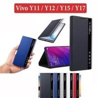 Vivo Y11 Y12 Y15 Y17 Leather Case Flipcover Digital View Stand Casing