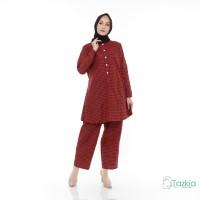 Setelan Muslim Wanita | Indira Kotak | S M L XL | Katun Square