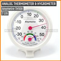 Anymetre TH108 Original, Analog Thermometer Hygrometer, 7 cm