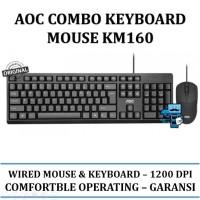 AOC Keyboard & Mouse Combo KM160 / KM-160 - Original Product