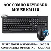 AOC Keyboard & Mouse Combo KM110 / KM-110 - Original Product