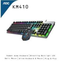 AOC Wired Combo Keyboard & Mouse KM410 / KM-410 - Original