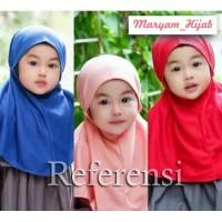 Jilbab Anak/balita Bergo All Size 1-5 Tahun/Jersey Balon Tebal