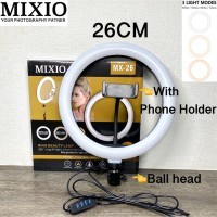 RING LIGHT LED 26CM Lampu 26 cm Make Up Vlog RingLight Lampu Ringlight