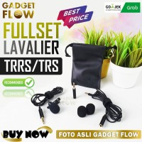 Microphone Mic Clip On Lavalier TRRS TRS & Extension 2M HP DSLR PC