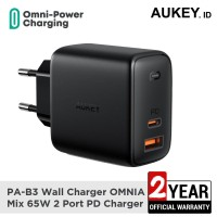 Aukey Charger PA-B3 OMNIA Mix 65W 2 Port PD Charger - 500484