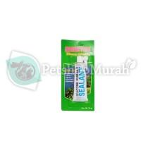 Lem aquarium kaca Sealant 70 gr silicone rubber glass metal ceramic