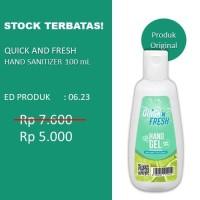 Hands Sanitizer Gel Quick n Fresh 100 mL