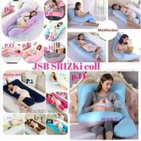 bantal hamil + sarung maternity pillow bisa bolak balik