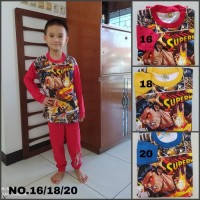 Baju Setelan Anak Laki Set Motif Kartun Karakter Pahlawan S Man