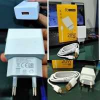 Travel Charger USB Realme AK933 VOOC Original 99.9%