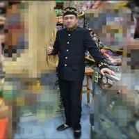 Beskap hitam bordir -adat Betawi - adat Sunda - adat Jawa dewasa