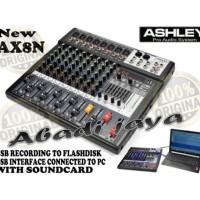 Mixer Audio ASHLEY AX8N 8 Channel Original product Ashley