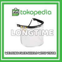 Welding Face Shield with Visor For Safety Helmet Kaca Kedok Las Topi