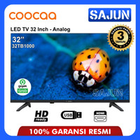 COOCAA 32TB1000 LED TV 32 INCH HDR Garansi Panel 3Th New 2019 - TV ONLY