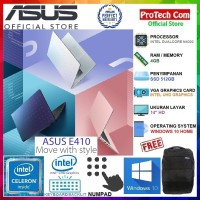 "LAPTOP ASUS E410MA - INTEL DUALCORE N4020 4GB 512GB 14"" W10 BACKLIGHT"