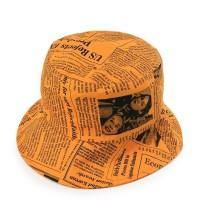 Urban State - Newspaper Bucket Hat - Orange