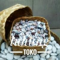 Batu Alam / Batu Hias / Tabur Panca Warna 1 Kg - Hiasan Pot Cantik