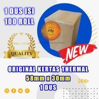 Kertas thermal paper roll / Kertas Termal 58 x 30 1 Dus - BERKUALITAS