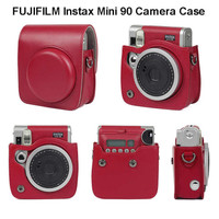 Case Instax Mini 90 Neo Classic - Leather Bag Case Black and Brown