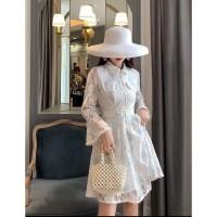 Madison white lace dress party wanita
