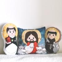 SAINTS PLUSHIE • Boneka santo santa custom Katolik lucu