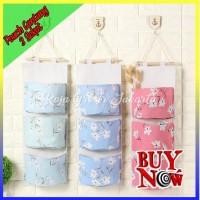 Storage Bag Gantung 3 Sekat/ Pouch gantung 3 Sekat / Gantungan -100054 - BLUE BEAR