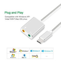 External USB Type C Sound card 3.5 mm Aux & Microphone Soundcard