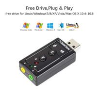 USB Audio Sound Card 3D 7.1 Soundcard External Mic Microphone Speaker