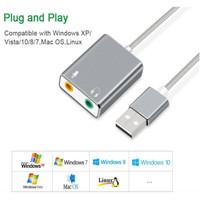 External USB Sound card 3.5 mm Aux & Microphone Sound Card Audio