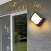 lampu dinding taman outdoor 5watt waterproof / lampu teras outdoor 5W - bulat