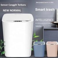 Tempat Sampah Otomatis Smart Sensor Otomatis dan Sentuh New Normal - Biru