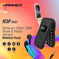 ADVAN HAMMER R3F DUO FLIP PHONE / GARANSI RESMI