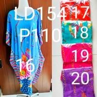 Daster Jumbo Batik Kencana Ungu Label Hijau