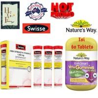 Paket Swisse High Strength Vitamin C + Nature's Way Kids Smart Vegies