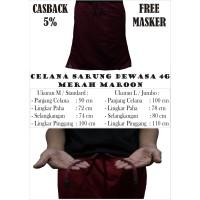 Celana Sarung Dewasa 4G Full Merah Maroon