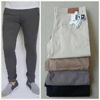celana chino panjang pria /celana kerja kantor - Grey, 27