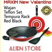 MAXIM NEW VALENTINO Wajan Telfon Set / Red Balck
