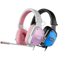 HEADSET GAMING SADES D-POWER SA-722 (BLUE/PINK)