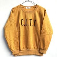 Baju Atasan Kaos Anak Tanggung Bahan Rajut Impor CITY Usia 12-13 Tahun