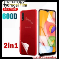 SAMSUNG A01 HYDROGEL SCREEN PROTECTOR DEPAN BELAKANG FULL COVER