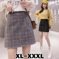 (#703 BIGSIZE XL/XXL/XXXL)Heejin Skirt/Rok Mini/Autumn Skirt/Rokpendek