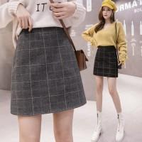 (#703)Heejin Skirt/Rok Mini/Autumn Skirt/Rok Tebal/Rok Pendek