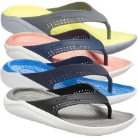 Sandal Jepit Crocs Literide Flip Flop Man Mesh Foam Grade Ori Premium