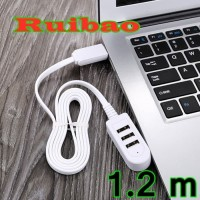 USB Hub 3 Ports / Charger USB 3 Ports / Extension With Data 1.2m 2.4A