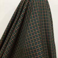 Kain Semi Wool Kotak Kecil ( Warna Hijau Olive )