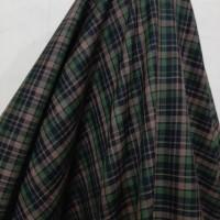 Kain Semi Wool Kotak ( Hijau Army Coklat )
