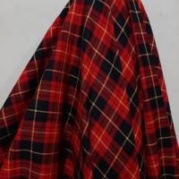 Kain Kotak Semi Wool ( Merah Garis Hitam Kuning )