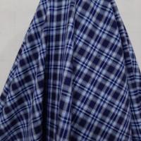 Kain Semi Wool Kotak ( Kombinasi Garis Biru )