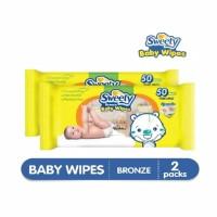 SWEETY BRONZE BABY WIPES 50 SHEETS / TISSUE BASAH BAYI SWEETY BRONZE